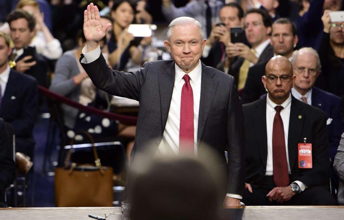 Le ministre américain de la Justice, Jeff Sessions, le 13 juin 2017, lors d'une audition devant le Sénat. – NEWSCOM/SIPA