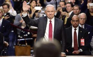 Le ministre américain de la Justice, Jeff Sessions, le 13 juin 2017, lors d'une audition devant le Sénat.