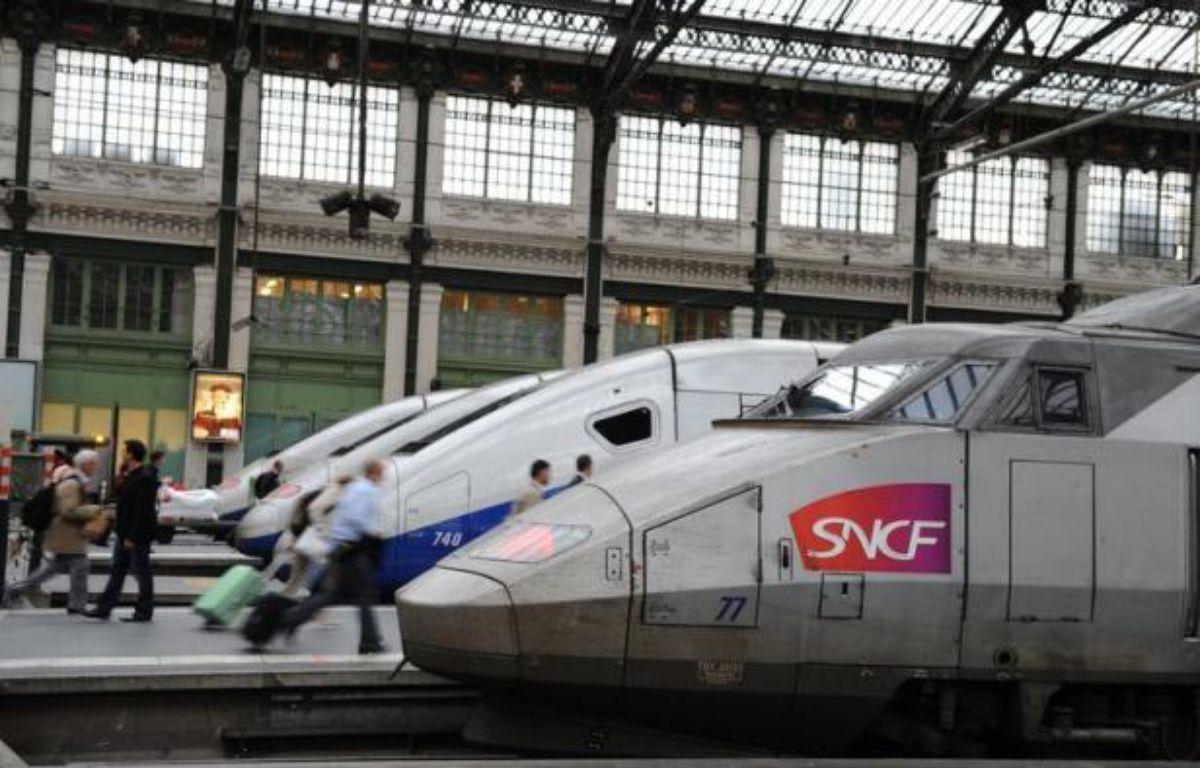 Plus de 600 personnes, qui voyageaient à bord d'un double TGV au départ de Paris et en direction de Grenoble et d'Avignon, ont été bloqués pendant près de 4H30 en Saône-et-Loire dans la nuit de vendredi à samedi, en raison d'une panne matérielle, a-t-on appris auprès de la SNCF. – Miguel Medina afp.com