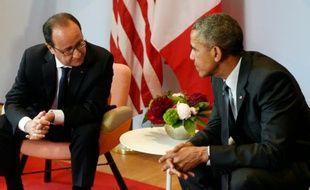 François Hollande et Barack Obama près de Garmisch-Partenkirchen en Allemagne, le 8 juin 2015