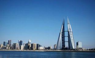 Vue d'ensemble de la capitale du royaume du Bahreïn, Manama, le 10 février 2016