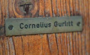 """Plaque sur le maison de Cornelius Gurlitt, le détenteur d'un """"trésor nazi"""" d'oeuvres d'art"""