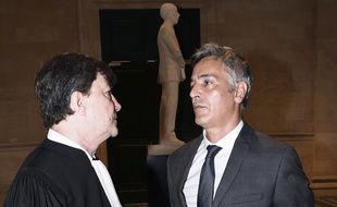 Le majordome Pascal Bonnefoy et son avocat Antoine Guillot.