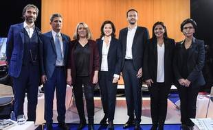 Les sept candidats à la mairie de Paris lors du débat sur LCI, le 4 mars 2020.