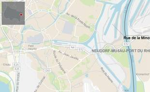 Le jeune étudiant a été retrouvé dans un bassin à côté de la rue de la Minoterie à Strasbourg, au Port-du-Rhin, à plus d'un kilomètre de Kehl, de l'autre côté de la frontière.