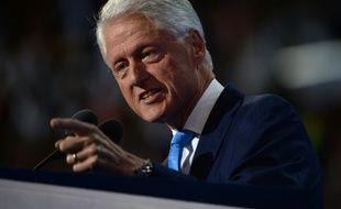 L'ancien président Bill Clinton lors de son discours devant les délégués de la convention démocrate le 26 juillet 2016 à Philadelphie