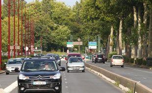 Le grand boulevard, appelé aussi «mini-tunnels», à Marcq-en-Barœul.