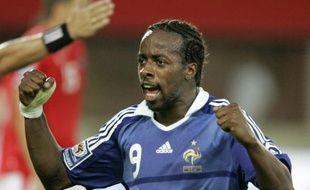 L'attaquant de l'équipe de France, Sidney Govou, lors d'un match contre l'Autriche, le 6 septembre 2008.