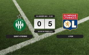 ASSE - OL: Au stade Geoffroy-Guichard, victoire écrasante pour l'OL contre l'ASSE (0-5)