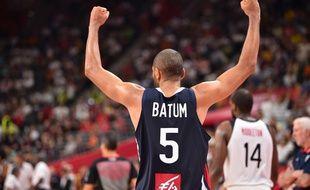 Nicolas Batum et les Bleus ont battu les Etats-Unis en quart de finale du Mondial de basket, le 11 septembre 2019.