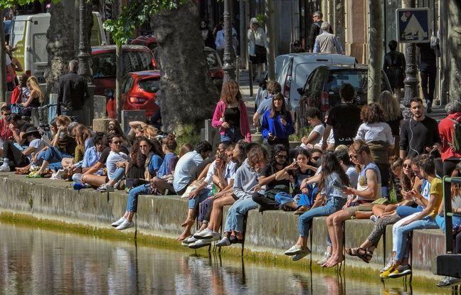 Le Canal Saint-Martin lors du week-end de l'Ascension