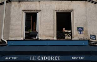 Le 9 avril 2020, rue Rebeval, à Paris, lors du premier confinement.