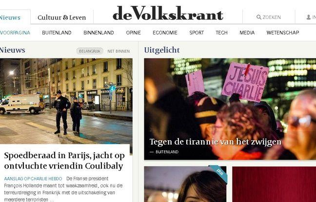 Capture d'écran du site http://www.volkskrant.nl/