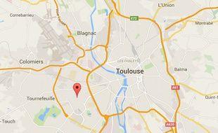 Localisation du chemin de Bordeblanche, à Toulouse.