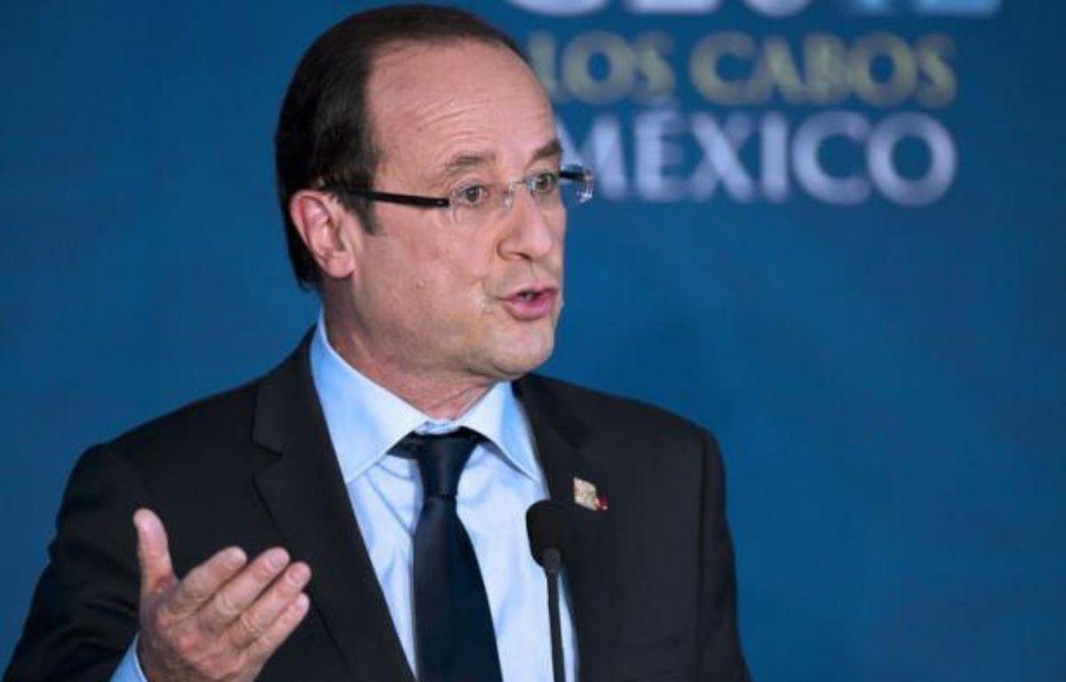 """Le président français François Hollande a affirmé, à propos de l'affaire Florence Cassez, Française emprisonnée au Mexique, qu'il faisait """"toute confiance à la justice mexicaine"""", mardi lors d'une conférence de presse à Los Cabos, à l'issue du sommet du G20. – Omar Torres afp.com"""