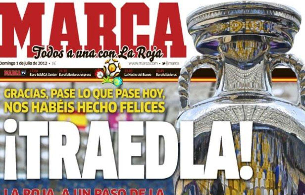 La Une du quotidien espagnol Marca, le 1er juillet 2012. – 20Minutes