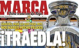 La Une du quotidien espagnol Marca, le 1er juillet 2012.