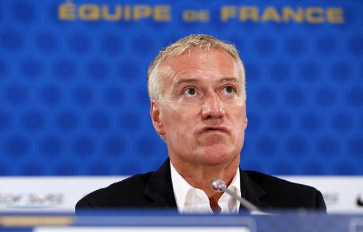 Didier Deschamps lors de la conférence de presse du 9 août 2012. – KENZO TRIBOUILLARD / AFP