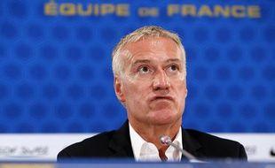 Didier Deschamps lors de la conférence de presse du 9 août 2012.