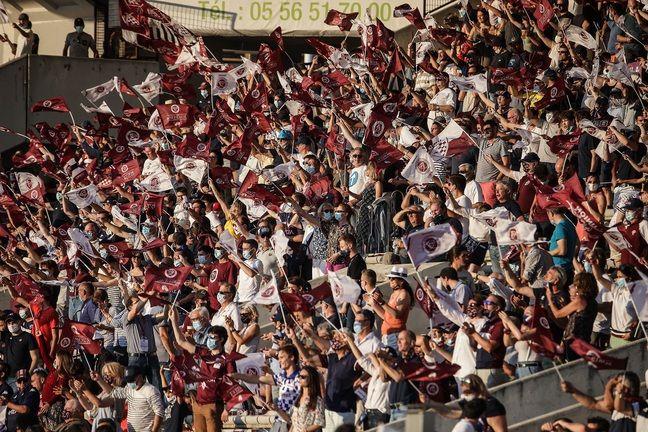 Les 5.000 supporteurs du stade Chaban-Delmas ont mis une ambiance de feu.