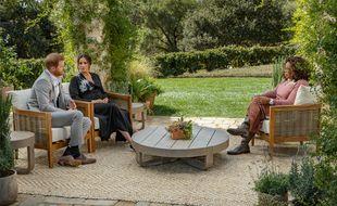Meghan et Harry interviewés par Oprah Winfrey.