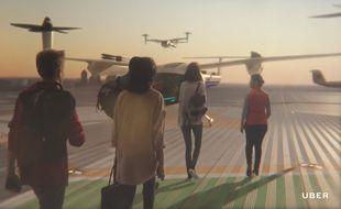 Les taxis aériens pourraient décoller depuis le toit d'immeubles.