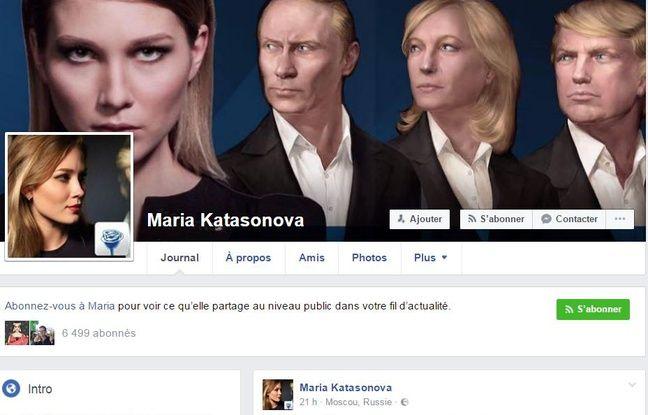 Le profil Facebook de Maria Katasonova