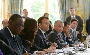 Emmanuel Macron et la Première ministre néo-zélandaise Jacinda Arden ont présenté «l'Appel de Christchurch» le 15 mai 2019.