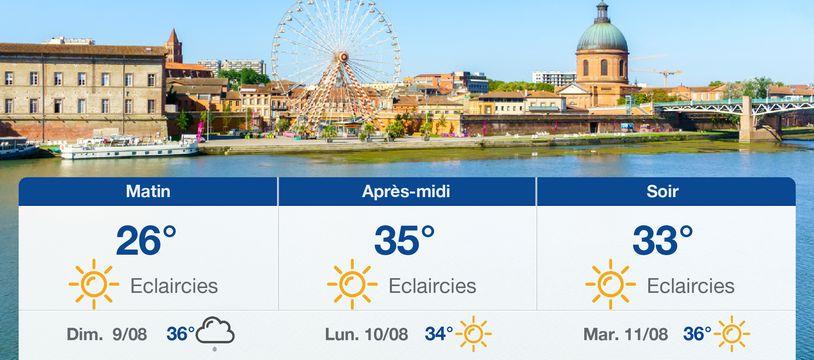 Météo Toulouse: Prévisions du samedi 8 août 2020