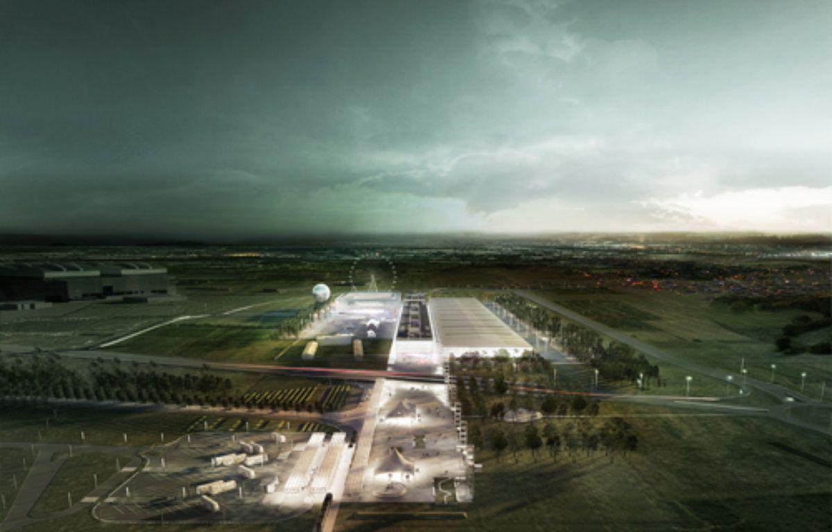 Vue d'artiste du futur Parc des expositions de Toulouse  – OMA