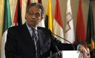 Amr Moussa, le chef de la Ligue arabe, le 4 mars 2010 en Espagne.