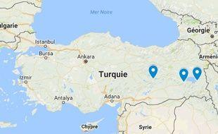 Van, Elazig et Bitlis ont été frappées par des attentats attribués au PKK