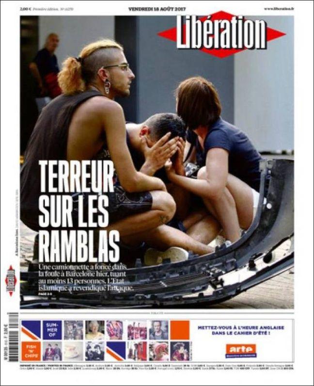la une de «Libération» le 18 août 2017.