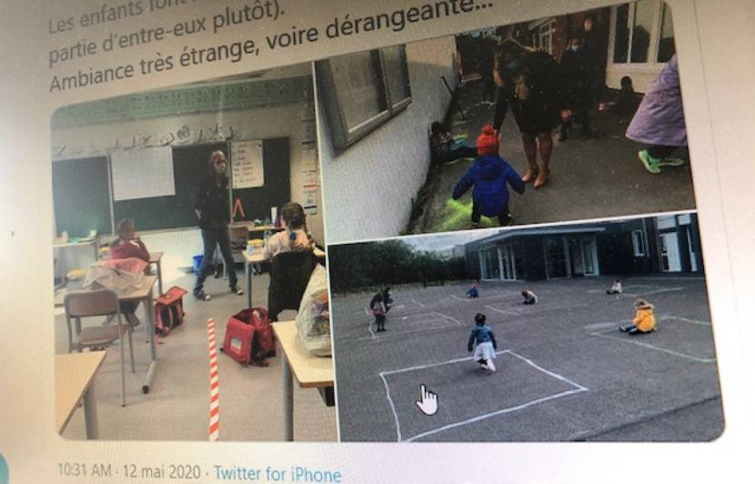 Déconfinement à Tourcoing : La photo d'enfants assis dans un carré ...