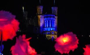 La colline de Fourvière, ici illuminée durant cette édition de la Fête des Lumières à Lyon.