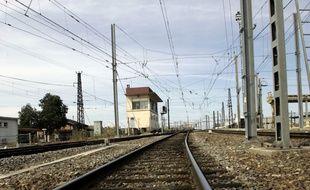 Voies ferroviaires (illustration)