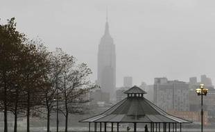 La ville de New York (Etats-Unis), dans l'attente de l'ouragan Sandy, le 29 octobre 2012.