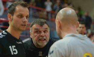 Philippe Gardent, le manager général du Fenix handball, et son adjoint Danijel Andjelkovic.