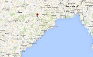 Raigarh dans l'Etat de Chhattisgarh (centre de l'Inde).