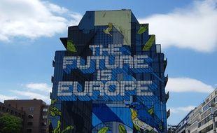 Une fresque pro-UE, dans le quartier européen de Bruxelles, en mai 2019.