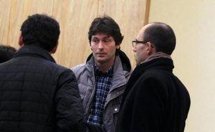Le grutier Laurent Marie à l'ouverture de son procès le 31 janvier 2014 à Cherbourg