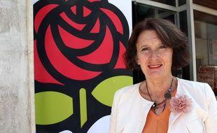 Anne-Yvonne Le Dain, candidate PS aux législatives, le 13 juin 2012.