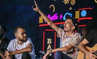 Bigflo et Oli lors de leur concert au Stadium de Toulouse le 24 mai 2019