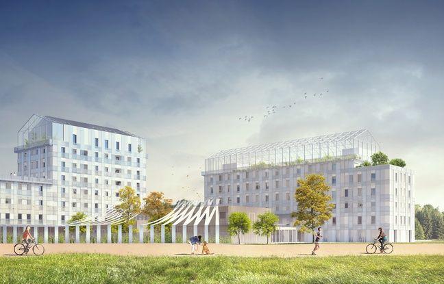 Image de synthèse du projet Les 5 ponts à Nantes.