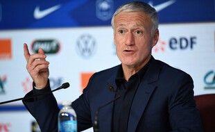 Didier Deschamps, le 18 mars 2021 au siège de la FFF.
