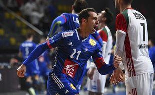 Michaël Guigou, ici le 27 janvier 2021, a franchi le 27 avril la barre des 1.000 buts en équipe de France de handball.