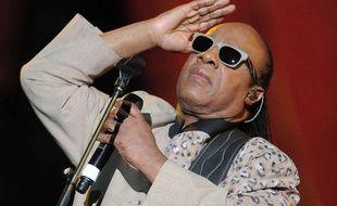 Stevie Wonder en concert à New York dans Central Park le 10 janvier 2013.