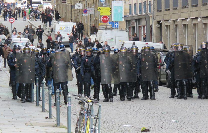 Rennes : Un policier mis en examen pour des violences sur un syndicaliste