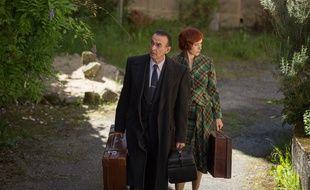Robin Renucci (Daniel)  et Audrey Fleurot (Hortense) dans la 7e saison d'«Un Village Français».