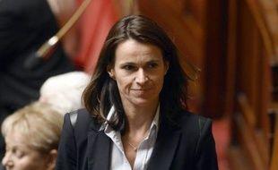 La députée socialiste Aurélie Filippetti à l'Assemblée nationale à Paris, le 28 octobre 2014